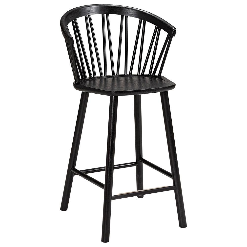ZigZag barstol karm svart
