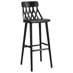 ZigZag barstol karm svart | Thuleslund